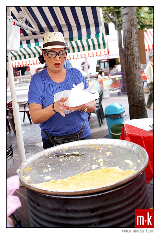 Socca, Chickpea pancake, Cours Saleya, Nice, France