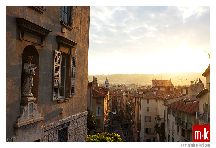 Old Nice France Sunset