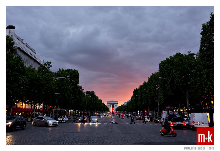 Arc de Triomphe, Champs Elysees, Paris, France