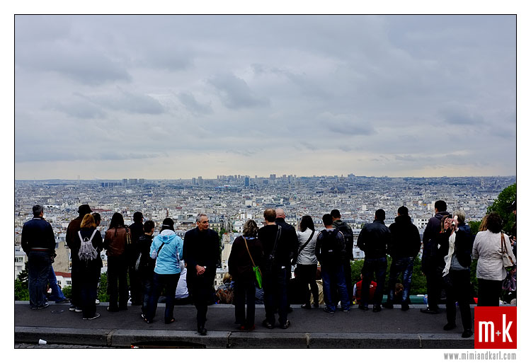 View from Sacre Coeur, Montmartre, Paris