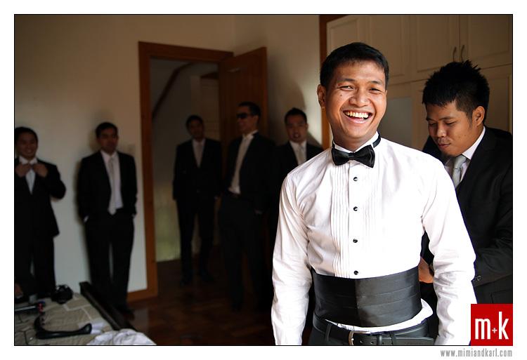 groom and entourage