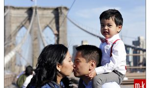 The Felix Family at the Brooklyn Bridge