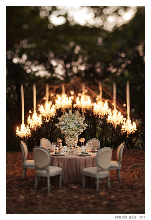 chandeliers in wedding receptions