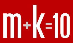 m+k=10