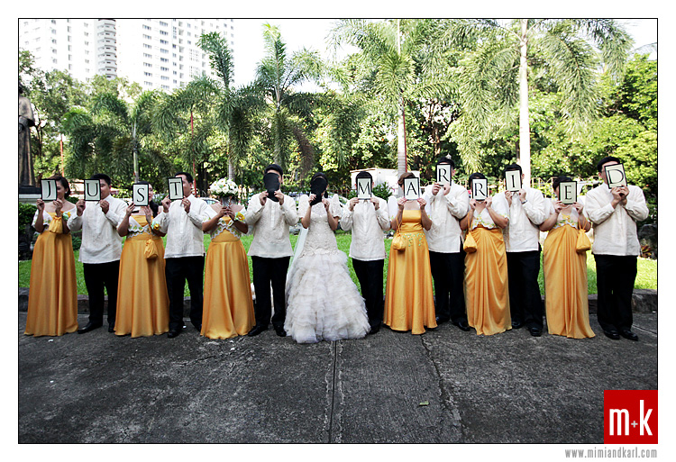 filipiniana wedding party