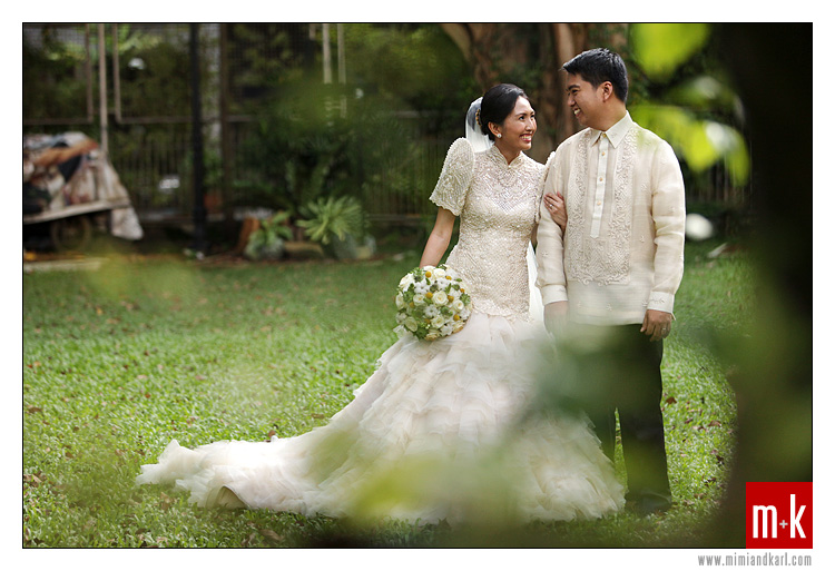 filipino bride and groom